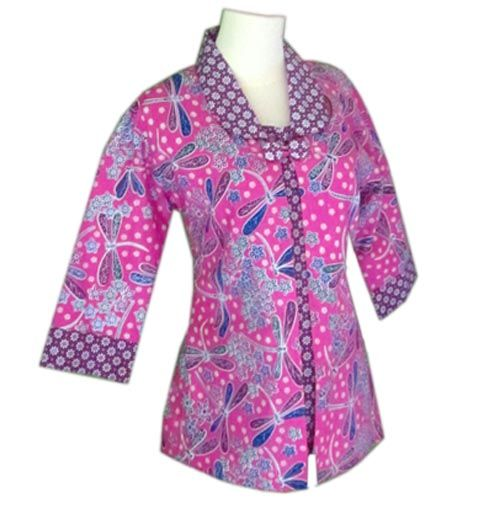 Blus Batik Wanita Uniform Batik Dress Batik Fashion Blouse Batik