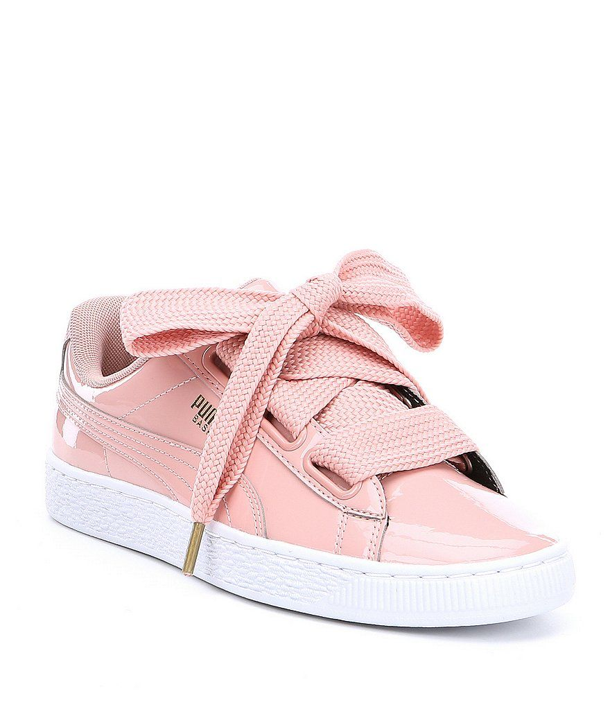 timeless design 4c225 935ec Puma Basket Heart Patent Sneakers | shoes in 2019 | Pink ...