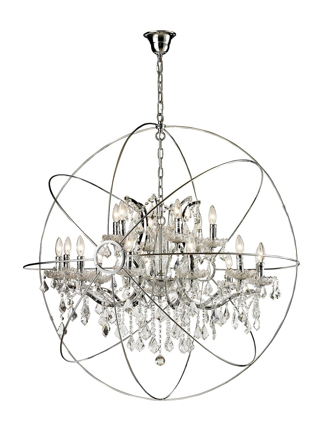 Large orb chandelier by bois et cuir by cdi intl at gilt