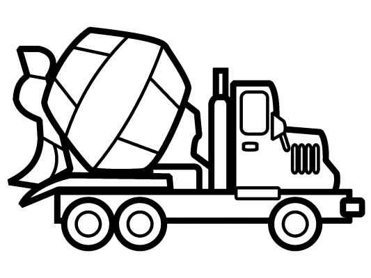 Cement Mixer Coloring Page | Free Cement Mixer Online Coloring ... | 400x533
