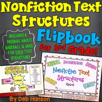 Informational Text Structures FLIPBOOK For 3rd Grade