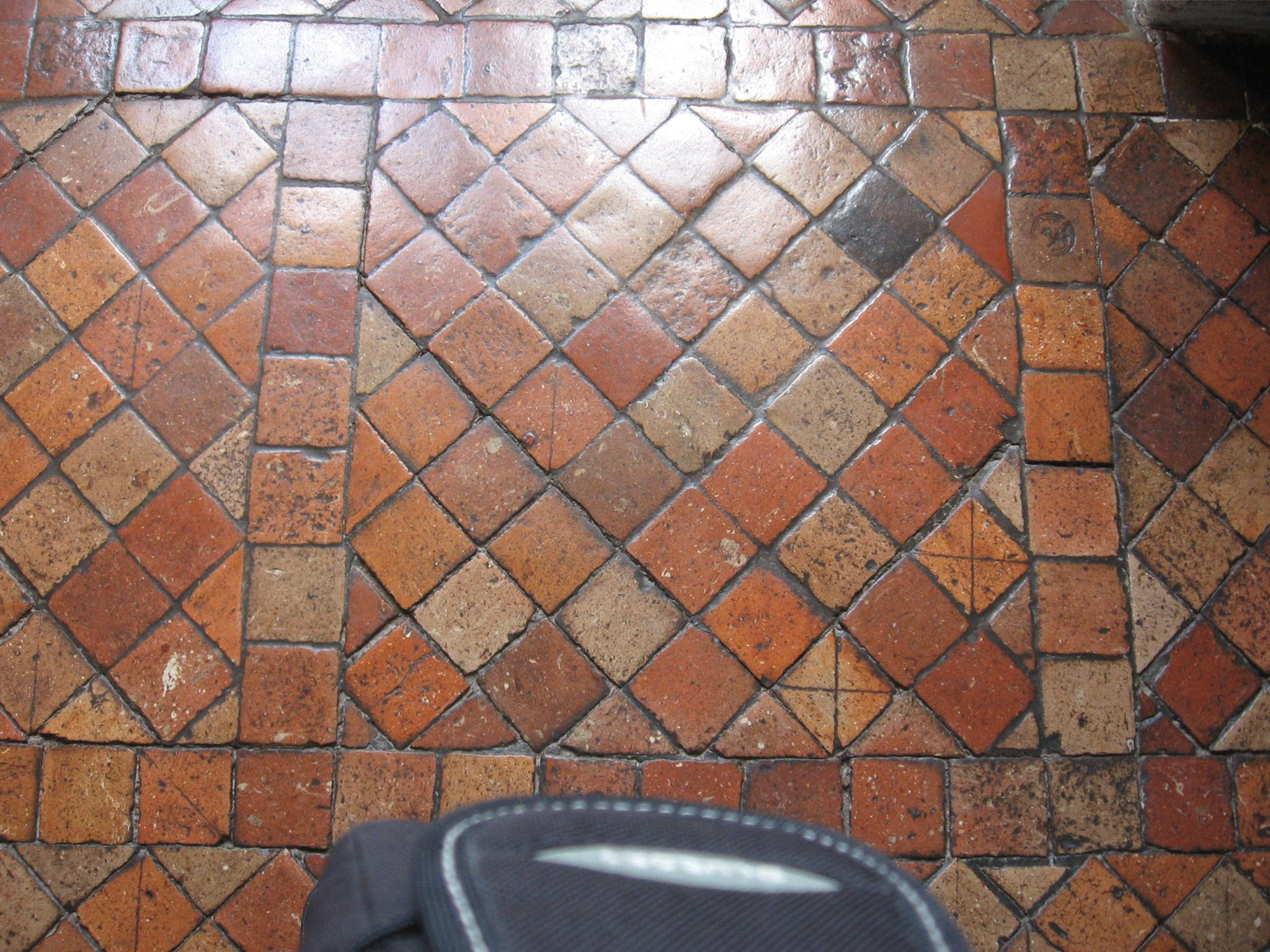 gorgeous terra-cotta tile floor. castle of chenonceau, france