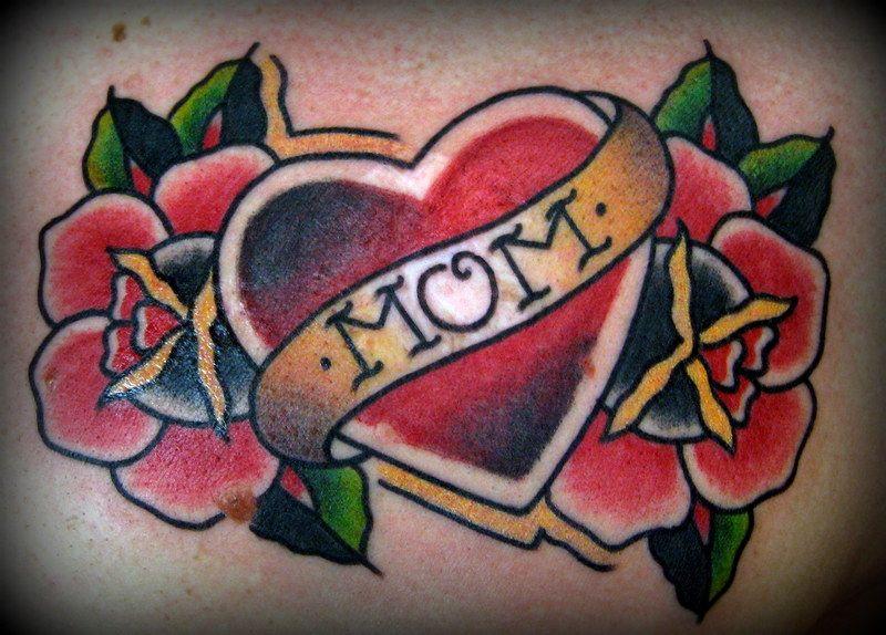 #mom#heart#rose#tattoo#traditionaltattoo   My Tattooing ...