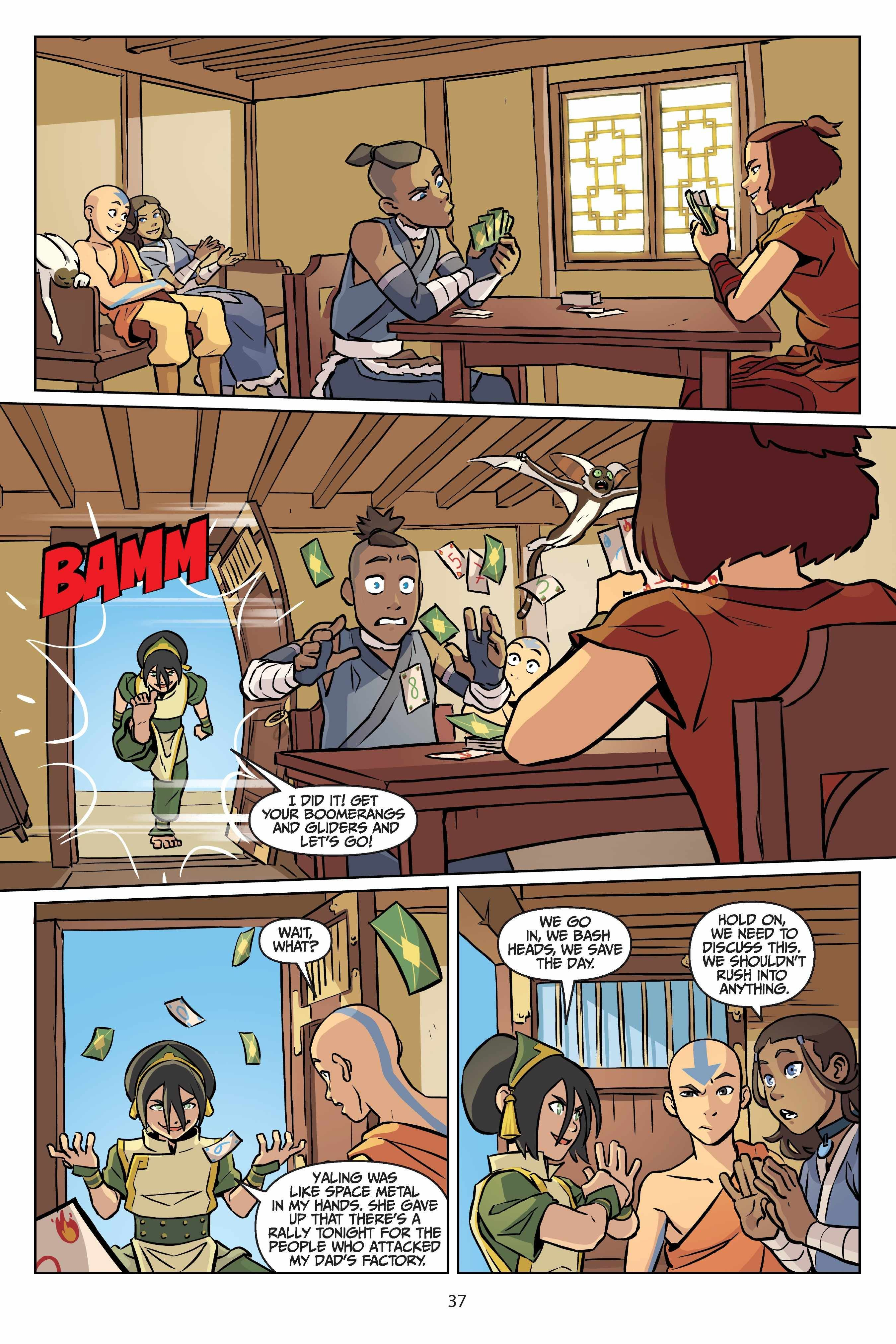 Read Comics Online Free Avatar The Last Airbender Comic Book Issue 025 Page 38 In 2020 Avatar Cartoon Avatar Funny Avatar