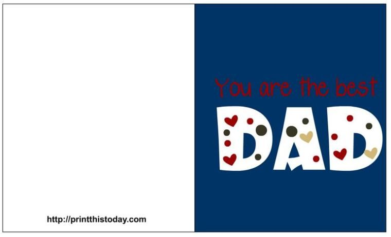 Lovely Fathers Day Free Printable Cards Fathers Day Pinterest