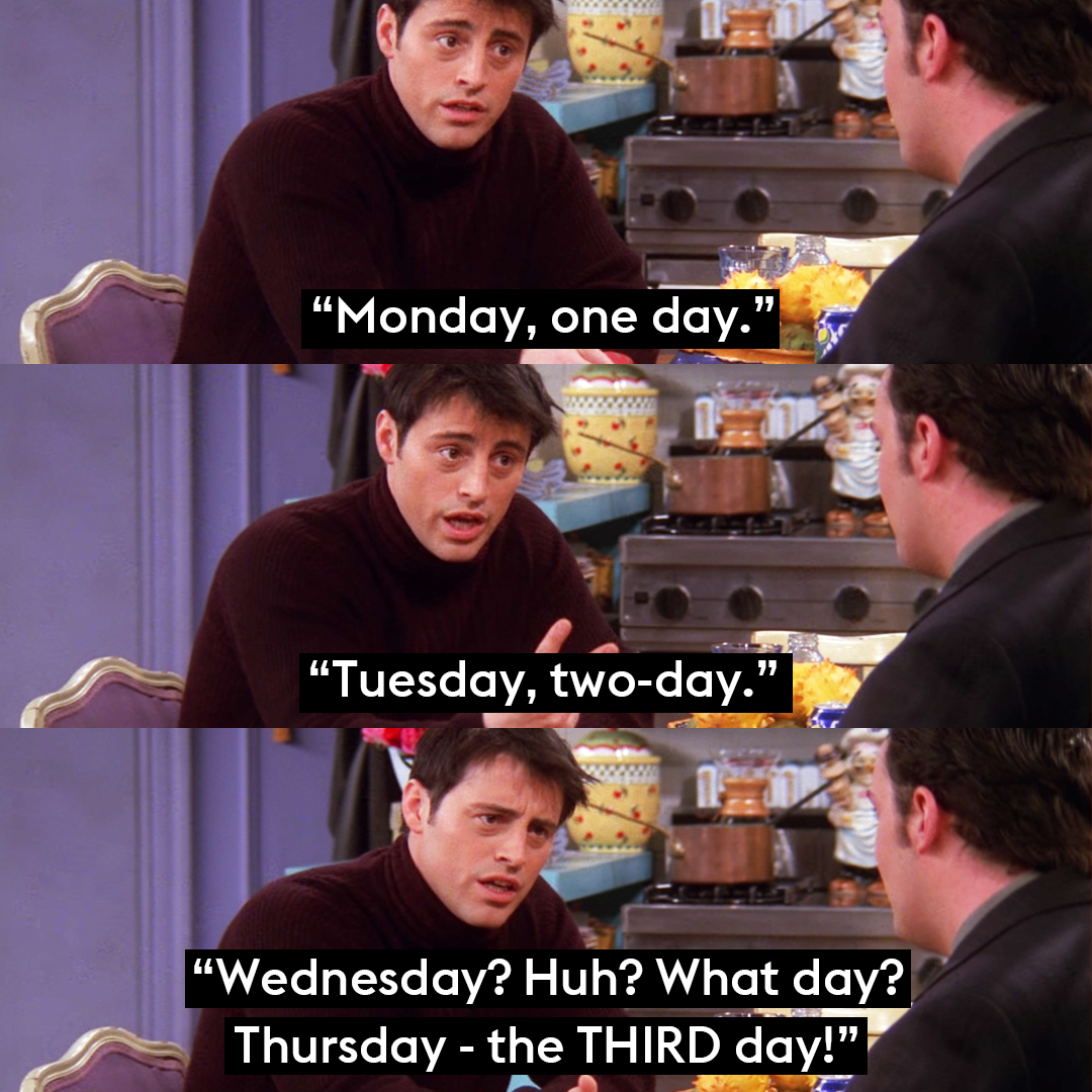 """Thursday - the third day"""" 