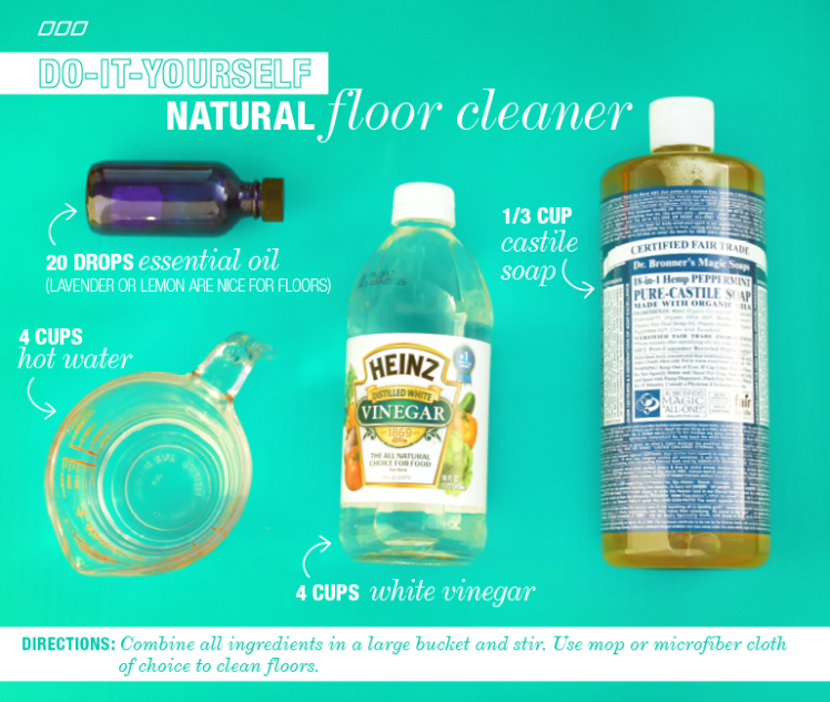 6 All Natural Household Dyi Cleaners