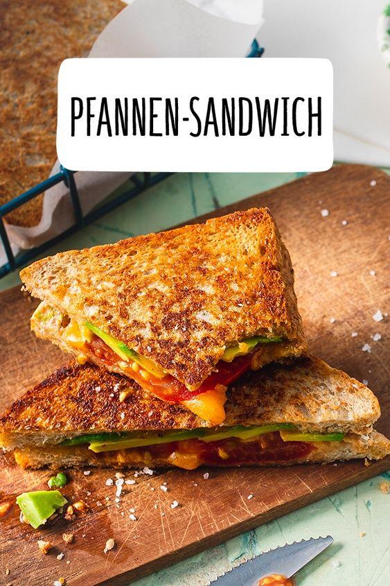Schnelles Pfannen-Sandwich #schnellerezeptemittagessen