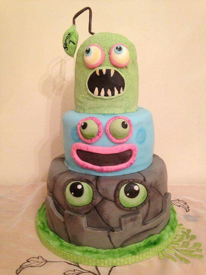 My son turning 9 this August wants a my singing monsters cake