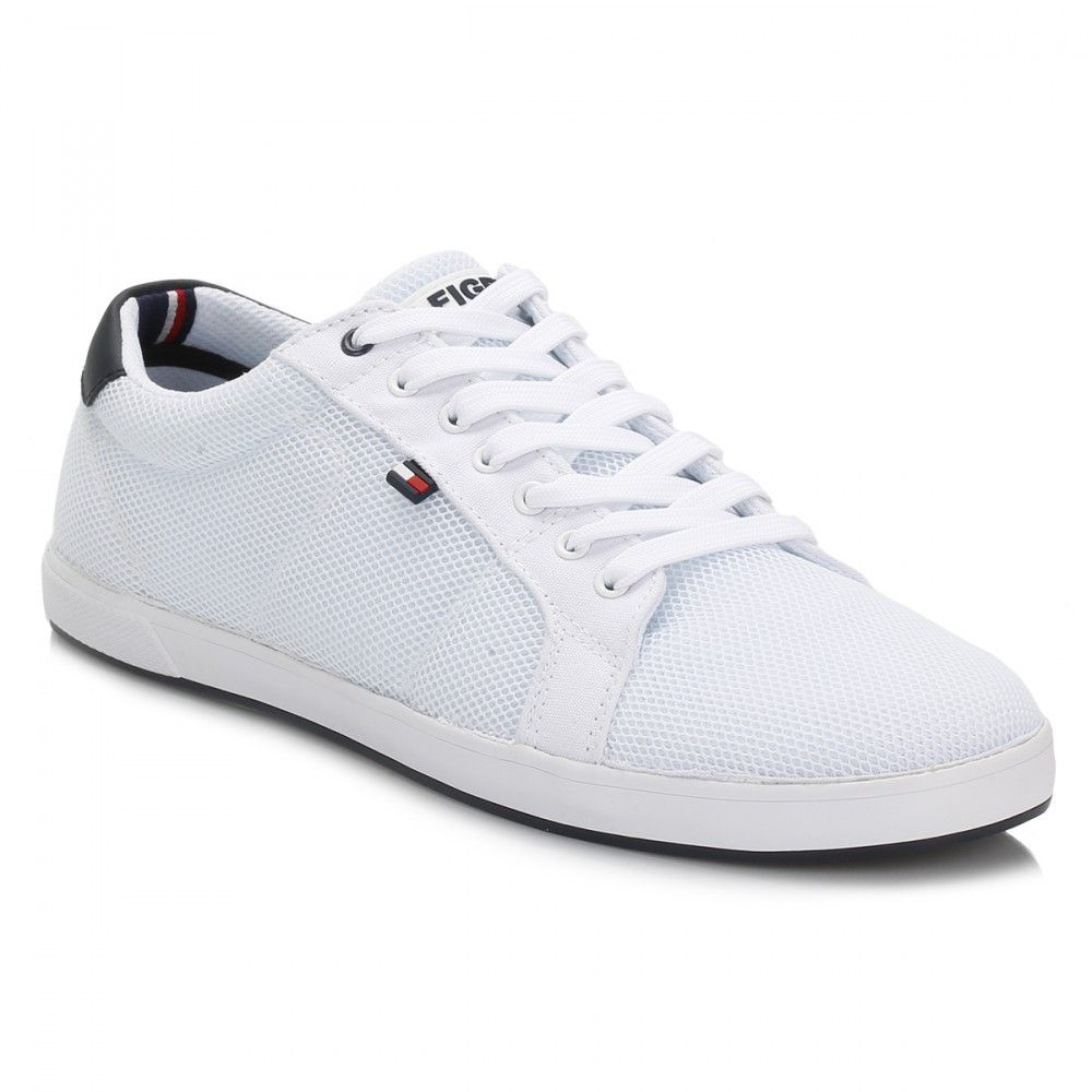 Tommy Hilfiger Mens White Mesh Trainers