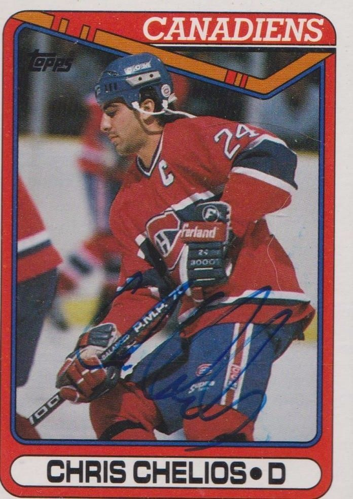 Chris Chelios autographed Topps 1990 #29