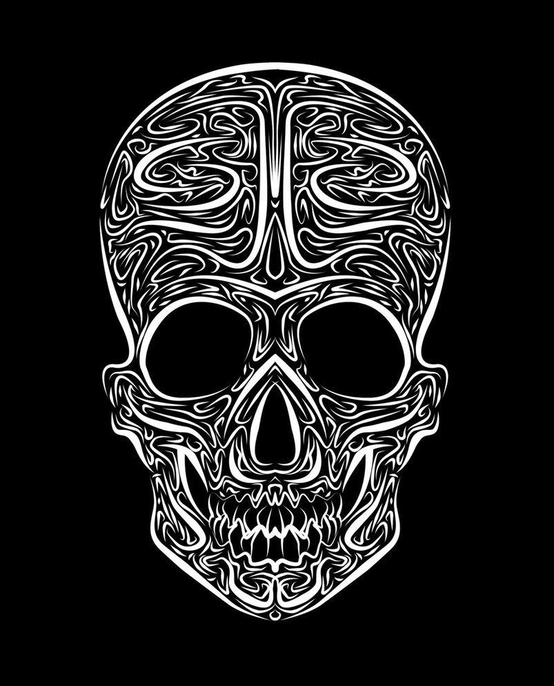 Skull Tribal Vector By Mental4Metal666 On DeviantArt (With