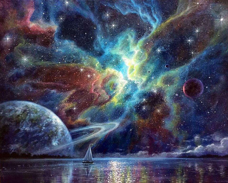 Картинки космос рисунки художников