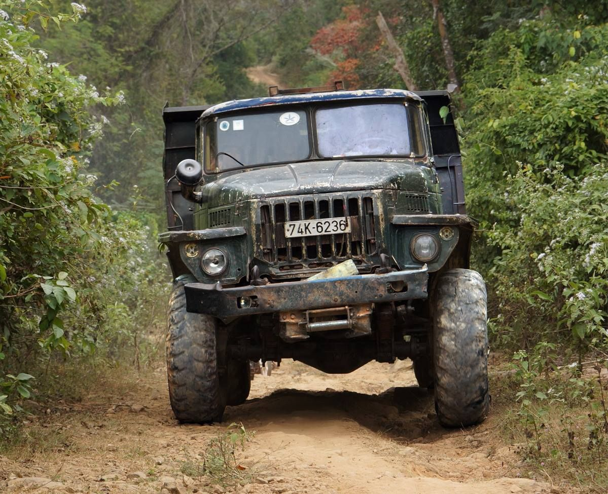 Vietnamese Ural truck rumbling down Ho Chi Minh trail
