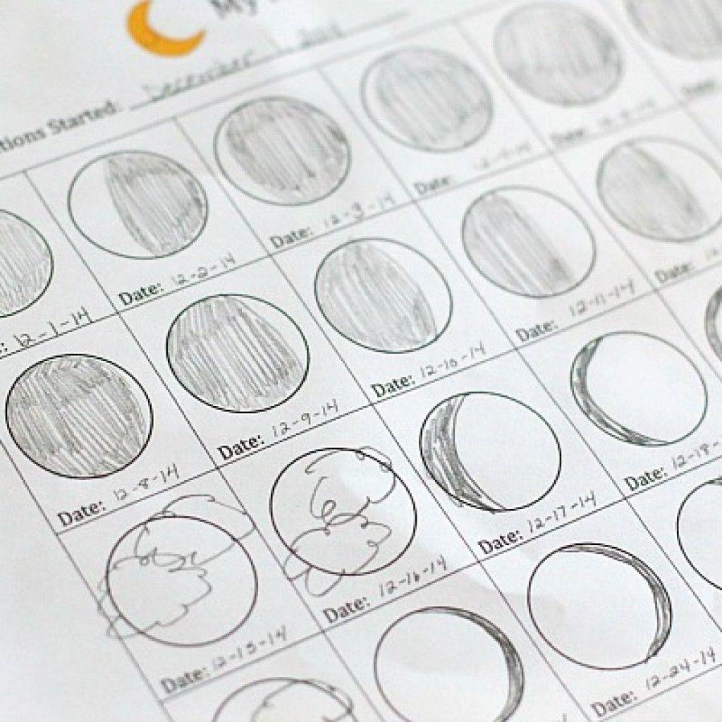 Astronomy For Kids Moon Journal Free Printable