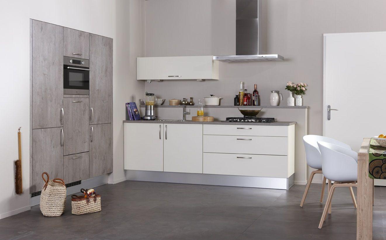 Bruynzeel Keuken Creme Vanille : Bruynzeel Atlas keuken in het cr?me vanille met Robuust oud eiken