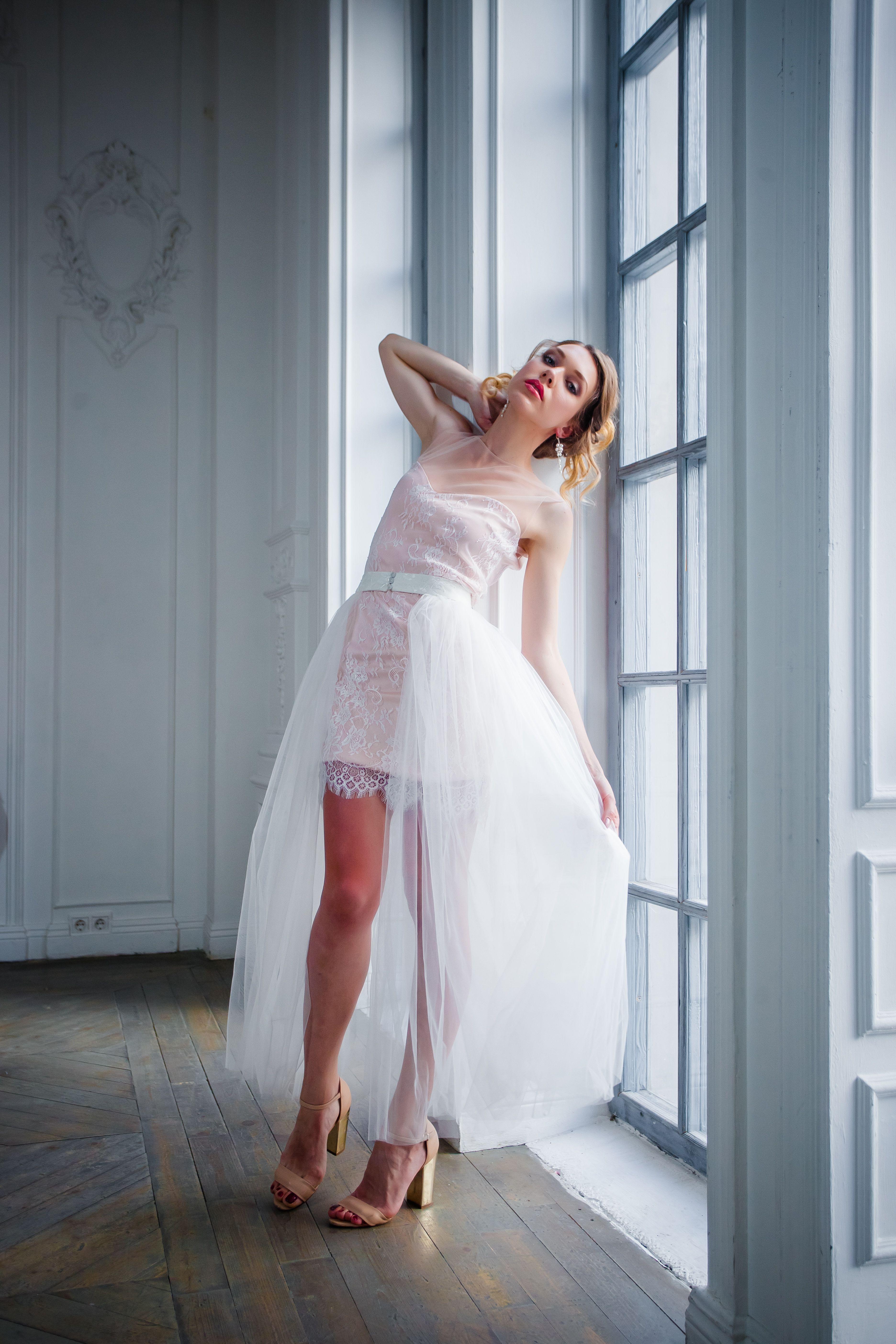 Short Peach Dress Transformer Irene | Wedding | Pinterest | Wedding