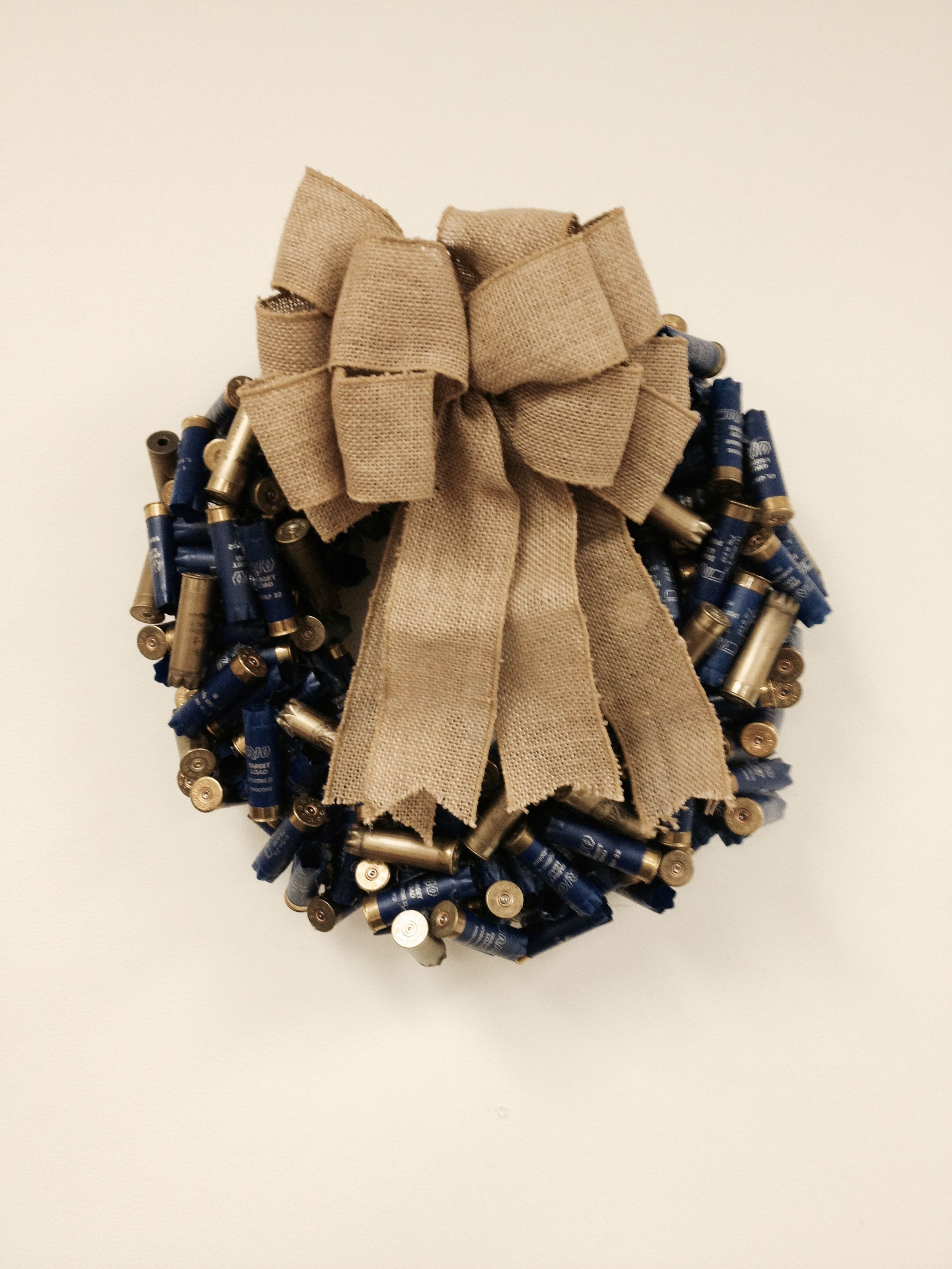 Shotgun Shell Wreath - Navy and Gold