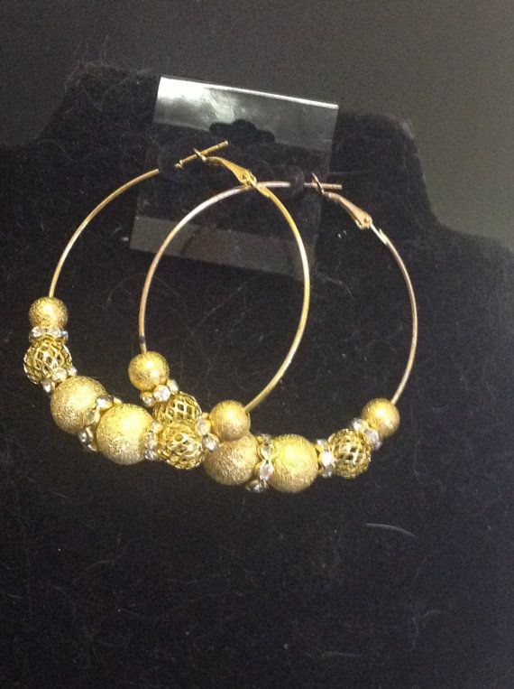 71f7feef6ec41 22kt Gold Plated Basketball Wives Hoop by IeshasFashionJewelry ...