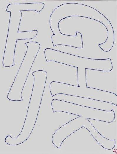 Abecedario de letras mayúsculas alargadas - Fomiart   Keçe (Felt ...