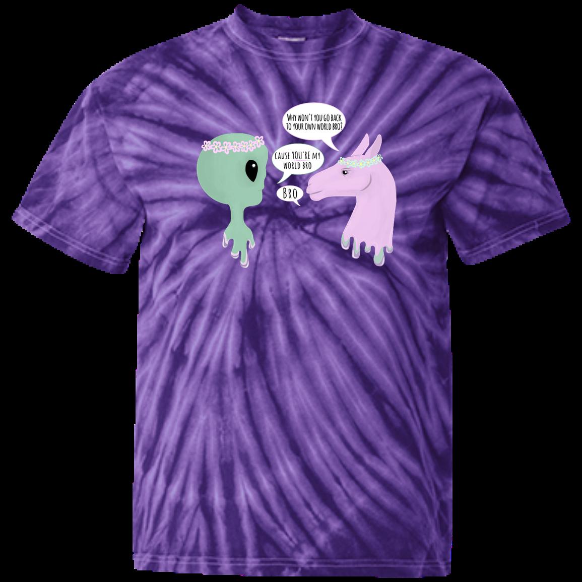dc16c54635ca Llama and Alien Bros Youth Tie Dye T-shirt