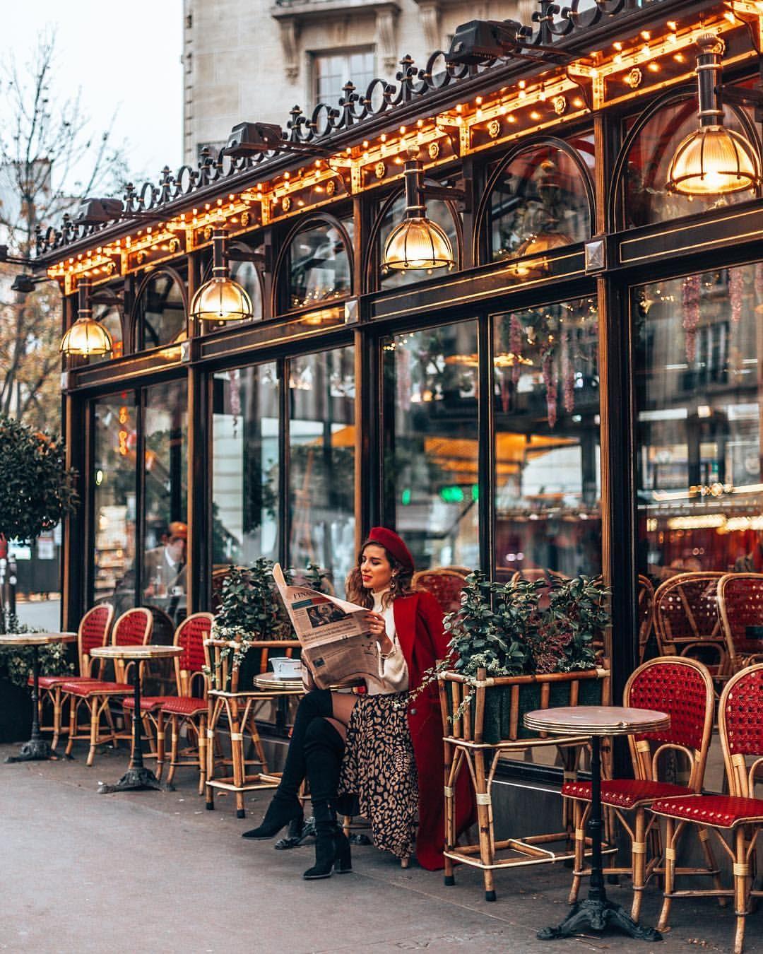 Французские кафе в картинках