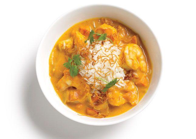 Pumpkin Shrimp Curry via bon appetit