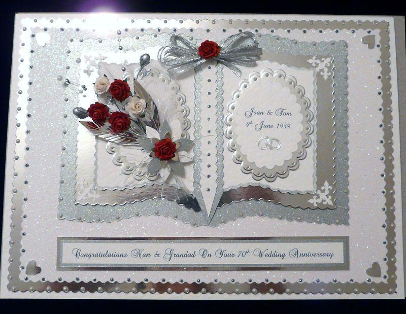 70th Wedding Anniversary.Details About Diamond Platinum 60th 70th Wedding Anniversary Card