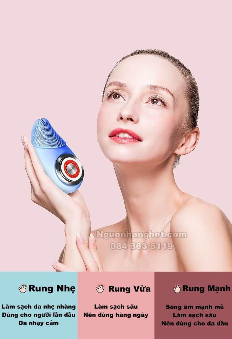 Máy Massage Rửa Mặt Làm Sạch Sâu Lỗ Chân Lông