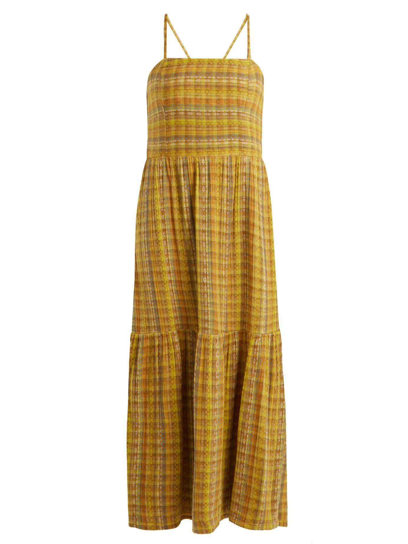 Dusty striped cotton-blend dress Ace & Jig Cheap Deals Pick A Best Online Clearance Reliable QohqcTj2