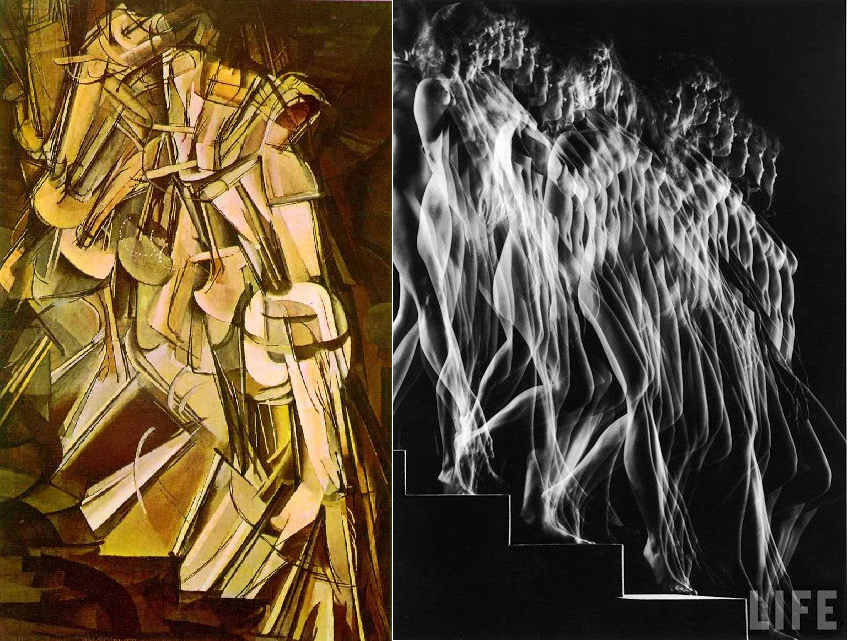 Duchamp nude descending stairs