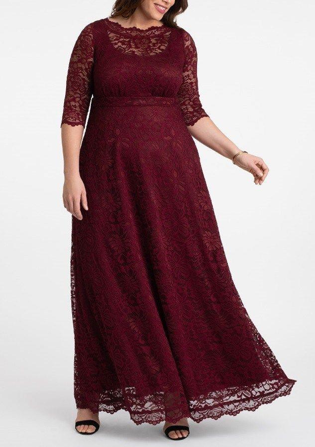 Burgundy Lace Maxi Dresses Plus Size Plus Size Maxi Dresses In Rich Burgundy Hues Plus Size Evening Gown Plus Size Maxi Dresses Plus Size Lace Dress