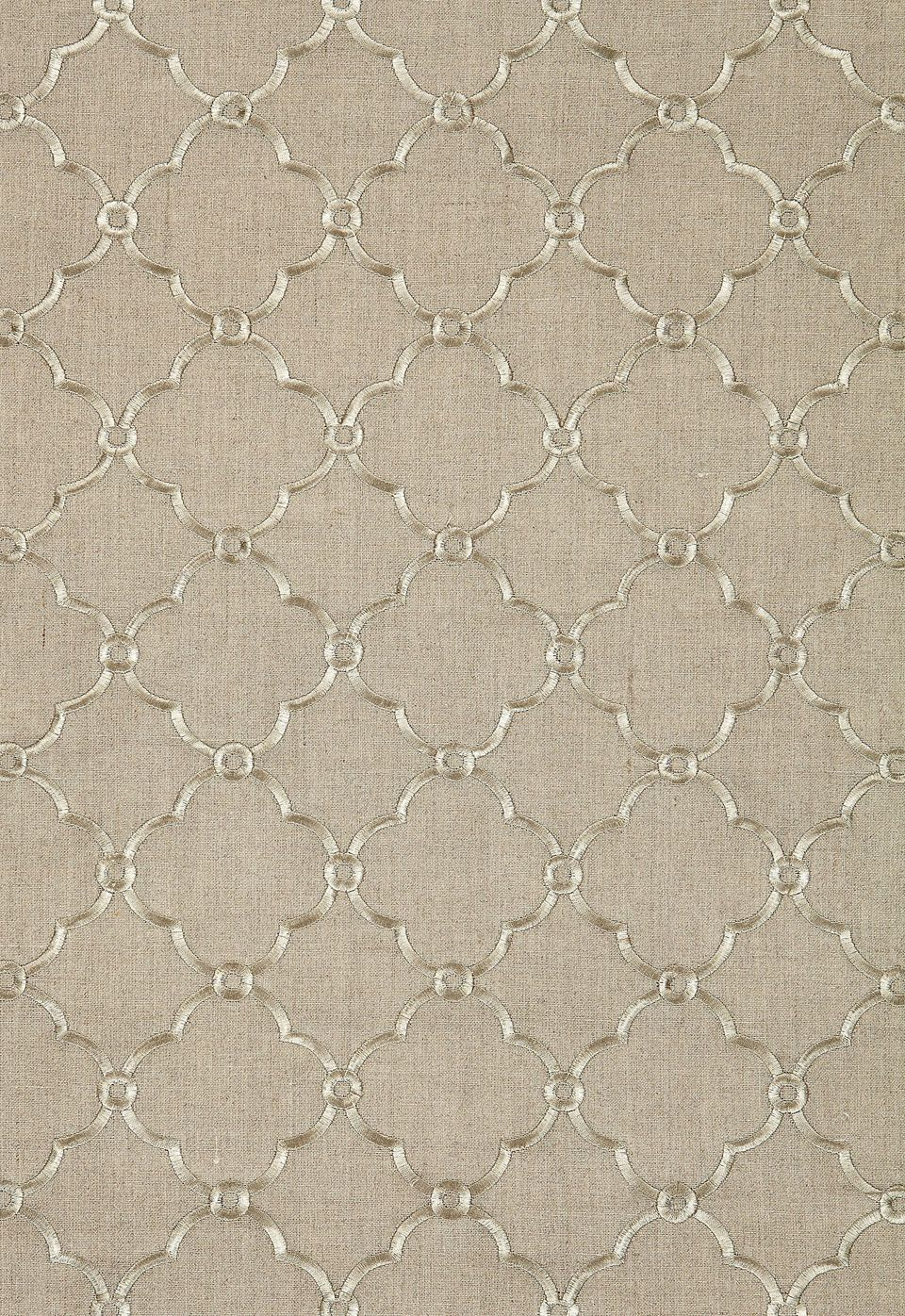 Fabric | Luxembourg Embroidery in Linen | Schumacher