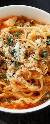 Noodles in Creamy Tomato Sauce  Low Carb Recipes Zucchini Noodles in Creamy Tomato Sauce  Low Carb Recipes  Lasagna made extra cheesy and extra easy with ravioli Pasta pu...