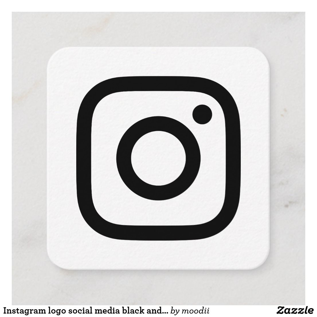 Instagram Logo Social Media Black And White Promo Calling Card