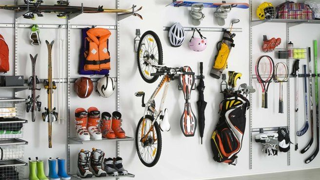 Rangements Malins Pour Materiel Sportif Amenagement Garage Rangement Garage Rangement