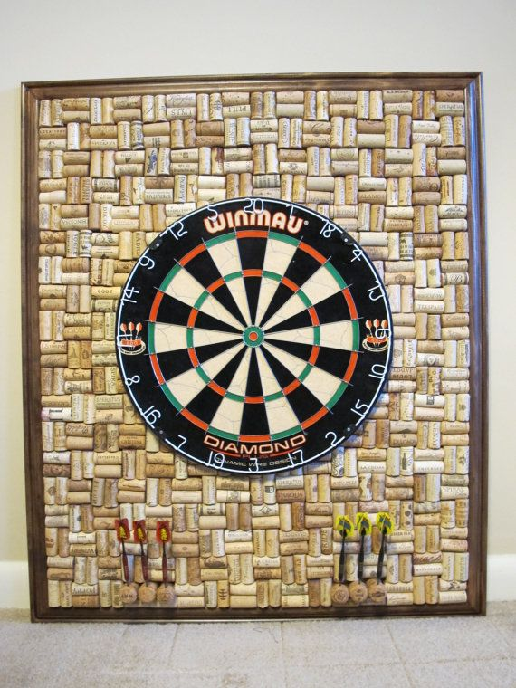 Made To Order Wine Cork Dartboard Backer 33 X By Olddogoriginals