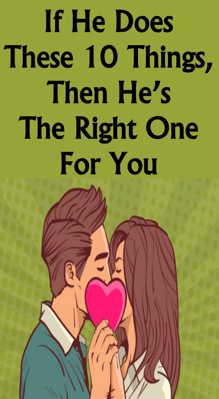 How to know if hes the right one