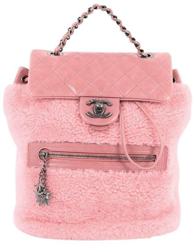 57220a1520ec Chanel Mountain Backpack Diamond Calfskin Pink | Products | Chanel ...