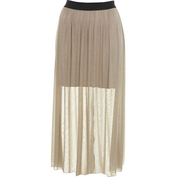 Petites Shimmer Maxi Skirt found on Polyvore