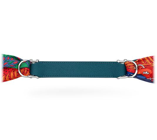 "Little Romance Hermes women's leather belt in Epsom calfskin, buckle in palladium plated metal (width: 1""). Pair with an Hermes silk scarf to create the perfect belt for your look! Mallard Blue"