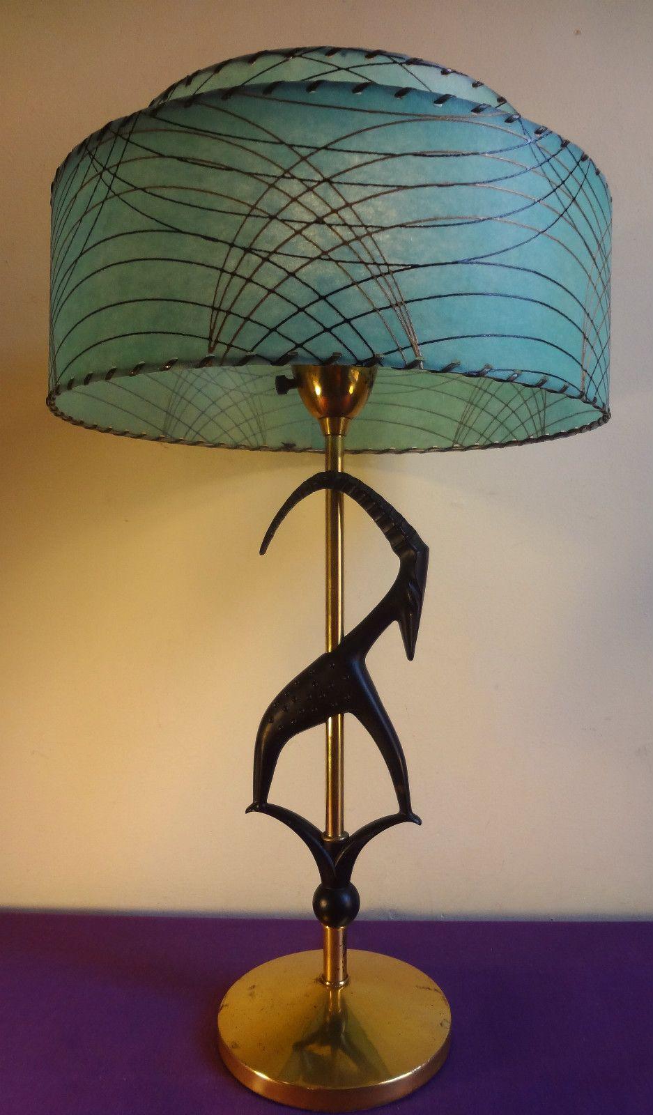 1950s Eames Era Rembrandt Mcm Antelope Table Lamp