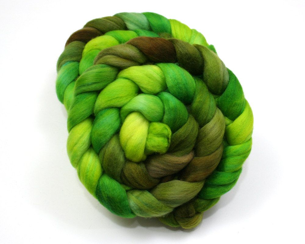Polwarth/ Silk Roving  Hand Dyed Roving for by woolgatherings