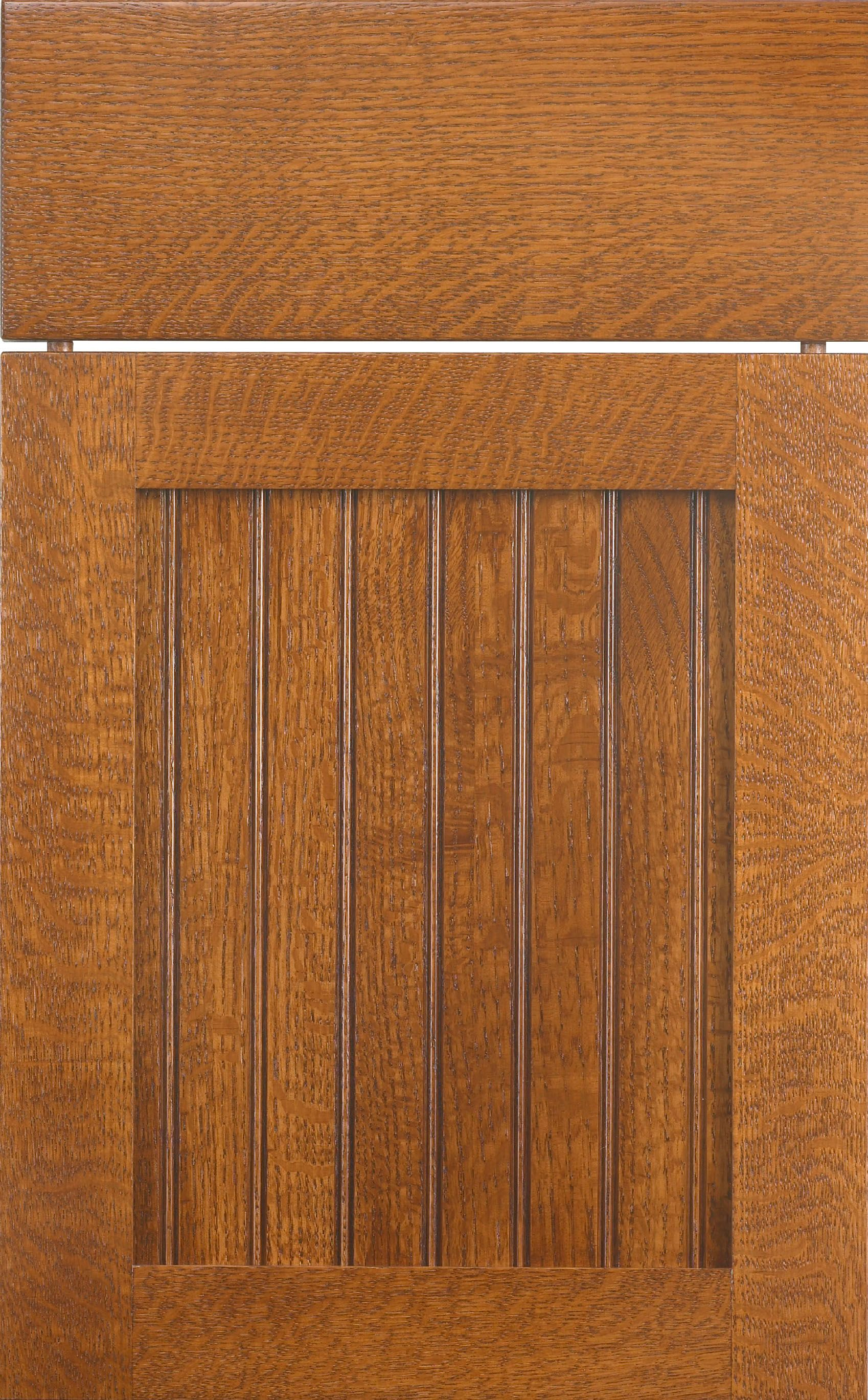 Bridgeport Beaded door style by #WoodMode shown in Acorn finish on quarter sawn oak : acorn doors - Pezcame.Com