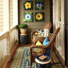 Küçük Balkonlar İçin 20 Yenilikçi Fikir #kleinerbalkon