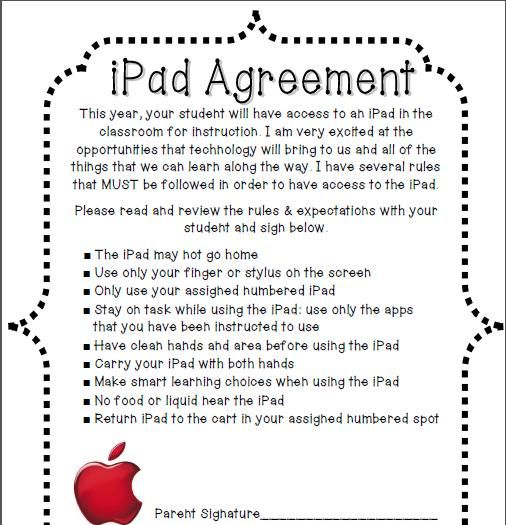 Ipad Agreement  Would Tweak To Make My Own  Ipad
