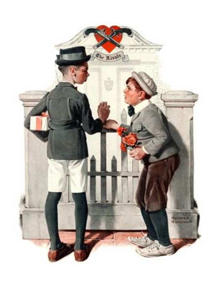 """""""The Rivals"""" - by Norman Rockwell"""