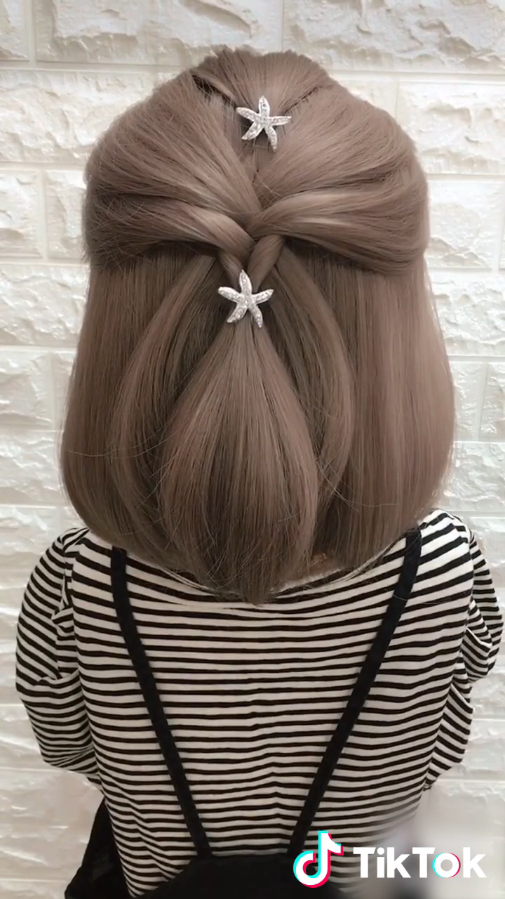 Super Easy To Try A New Hairstyle Download Tiktok Today To Find More Amazing Baby Girl Hairstyles Amaz In 2020 Short Hair Styles Long Hair Styles Unique Hairstyles