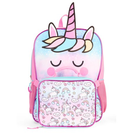 6c44a9bc14c8 Girls' Unicorn Backpack With Lunch Bag, Blue | Products in 2019 ...