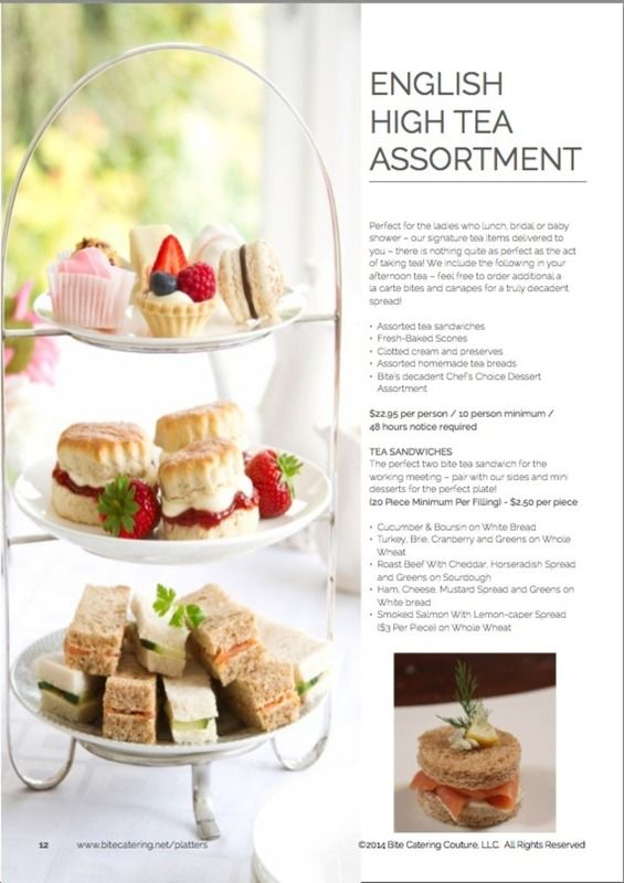 High Tea Customs | English High Tea/ Tea Sandwiches Catering | party